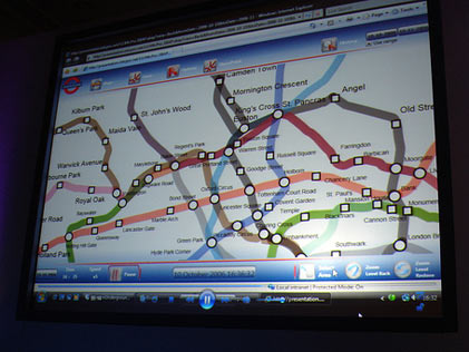 Схема метро в приложении