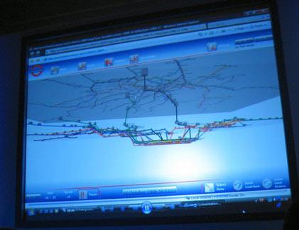 3D схема метро в приложении